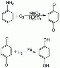 制备对苯二酚的化学反应式