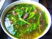 惊蛰养生食物鸭血菠菜汤
