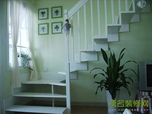 复式阁楼装修样板间,两室两厅的小复式楼阁楼