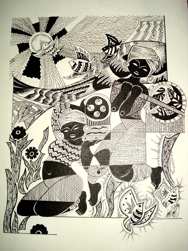 动物变形装饰画