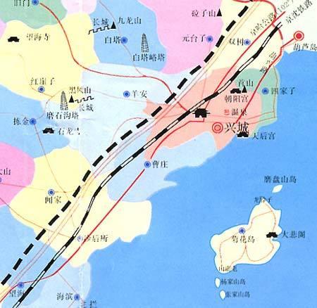 觉华岛地图