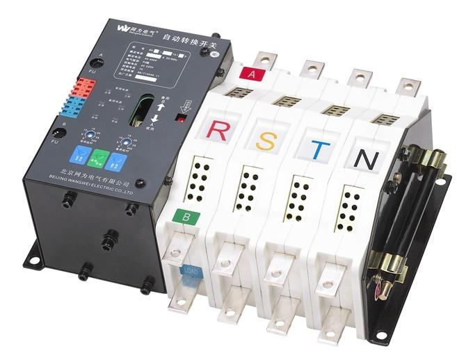 ①切除市电供电各断路器(包括配电室控制柜各断路器,双电源切换箱市供