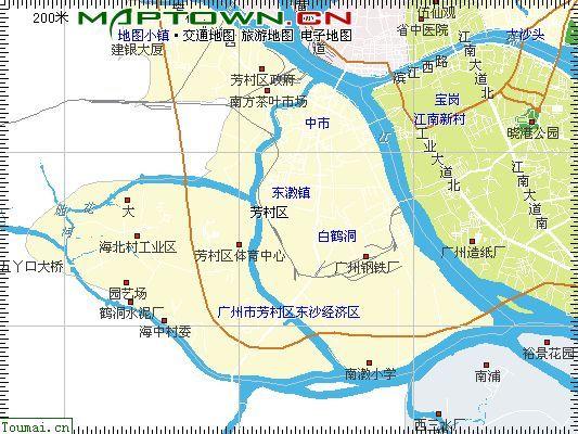 广州芳村区电子地图