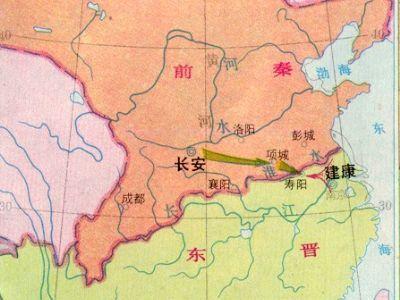 西晋流民起义地图
