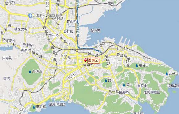 大连市区分区地图
