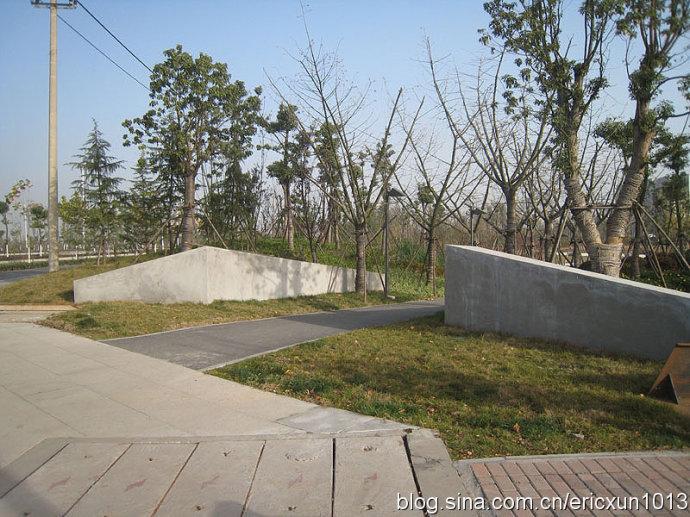 公园亲水木栈道平面