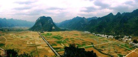 覃应机的家乡-广西东兰县三石镇纳合村