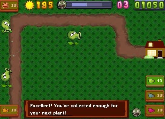 植物大战僵尸塔防版游戏画面