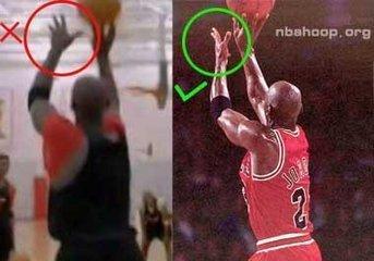 双手头上投篮:这种投篮出球点高,不易封盖,便于与头上传球相结合.