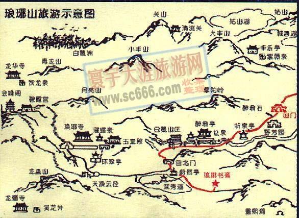 滁州旅游手绘地图