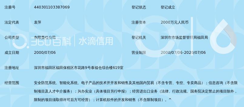 深圳市英特安防实业有限公司