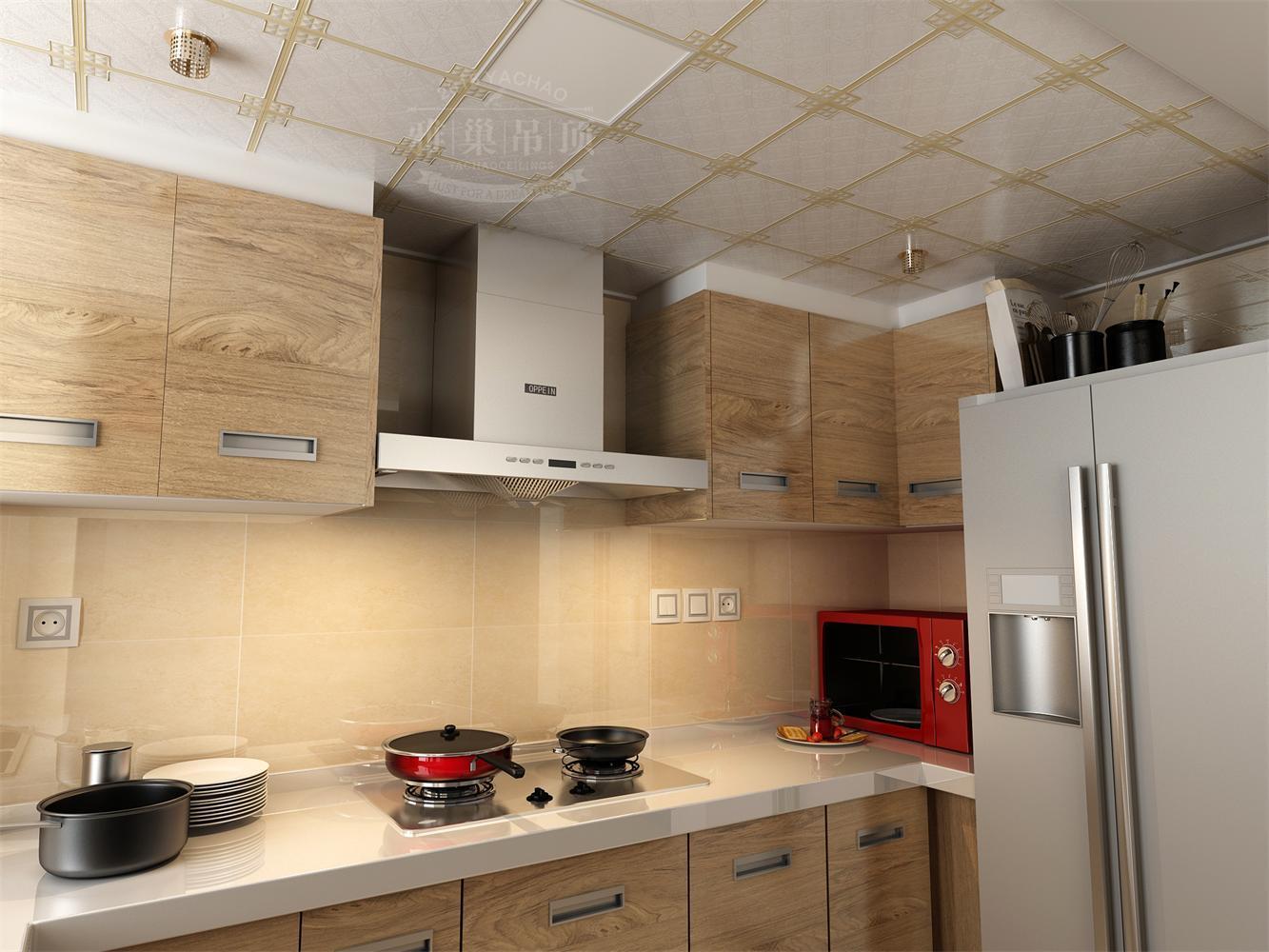厨房欧式铝扣板吊顶视频
